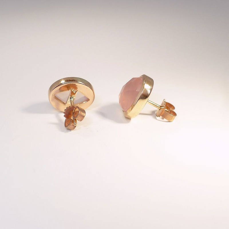 ohrstecker rosenquarz rosegold 585 722 00. Black Bedroom Furniture Sets. Home Design Ideas