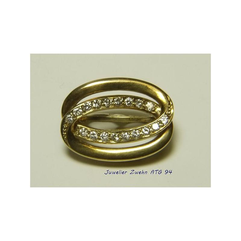 Perlclip Verkurzer 585 Gold Mit 18 Diamanten Gebraucht Aufge