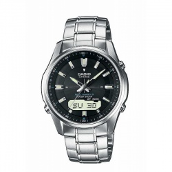 Casio Herren-Funkuhr Solar mit Metallband Analog-Digital...