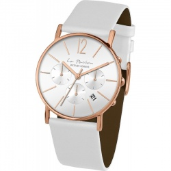 Jacques Lemans La Passion LP-123F LB weiss rosé chrono