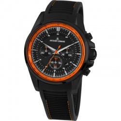 Jacques Lemans Liverpool 1-1799U Chronograph schwarz orange Silikonband