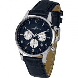 Jacques Lemans London 1-1654C Quarz Chronograph mit Lederarmband 10 ATM