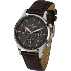 Jacques Lemans London 1-1654F Quarz Chronograph mit Lederarmband 10 ATM