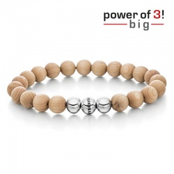 monomania Armband - Power of 3! - big - Ahorn - Innere Wärme M = 18 cm