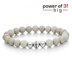 monomania Armband - Power of 3! - big - Beton - Durchsetzungskraft M = 18 cm
