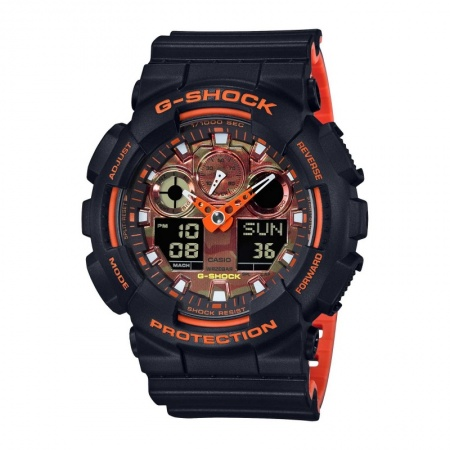 Casio G-SHOCK TRENDING GA-100BR-1AER WRIST WATCH Armbanduhr Analog Digital