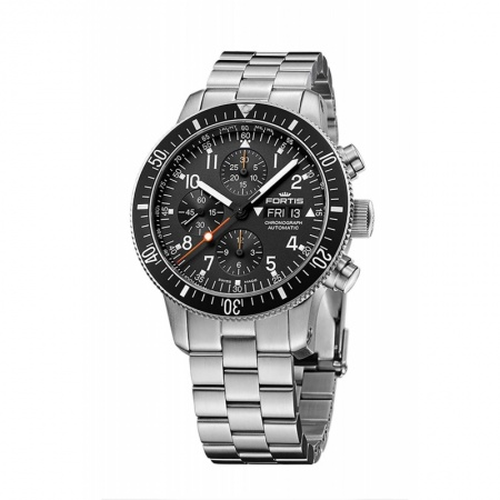 Fortis Official Cosmonauts Chronograph 638.10.11 M mit Metallband