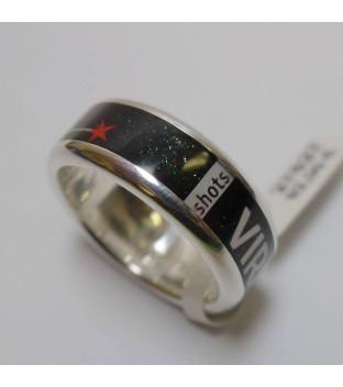 Ring Zebra shots Sternzeichen Jungfrau Virgo Weite 58 Silber 925 Art 40144