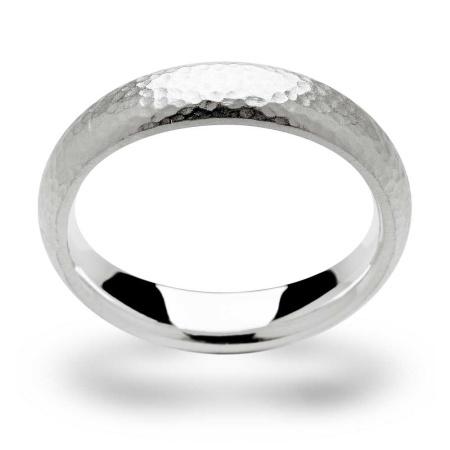 bastian inverun Ring Silber Hammerschlag Größe 56 - 9907