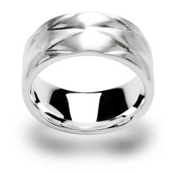 bastian inverun - Ring 925 Silber mit Rautenmuster matt...