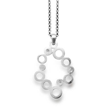 bastian inverun Silber-Anhänger 9817 mit Diamant 0,06 ct
