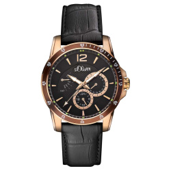 s.Oliver Herrenuhr  SO-2845-LM roségold-plattiert...
