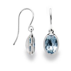 bastian-inverun Ohrring 925-Silber mit Blautopas