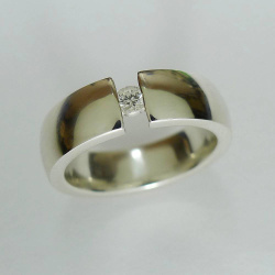 Ring 925er Sterlingsilber mit Brillant 0,09ct TW-vsi...