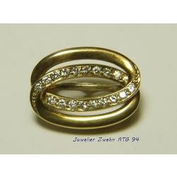 Perlclip Verkürzer 585 Gold mit 18 Diamanten -...