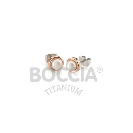 Boccia Ohrstecker 0594-03 rosé plattiert mit Perle