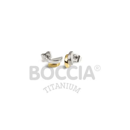 Boccia Ohrstecker 0552-03 Titan bicolor teil-goldplattiert