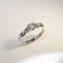 Verlobungsring Weißgold 585 mit Brillant 0,29 ct...