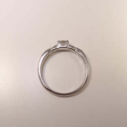 Verlobungsring Weißgold 585 mit Brillant 0,29 ct TW-vsi