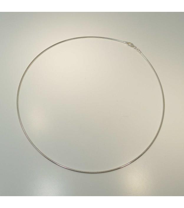 bastian inverun Tondareif 925-Silber matt 45 cm mit Karabiner