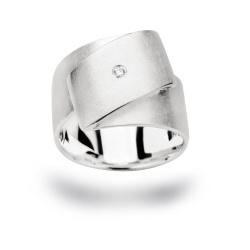 bastian inverun Damenring mit Diamant Weite 56 aus...