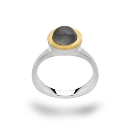 bastian inverun bicolor Ring 12626 925-Silber mit grauem Mondstein