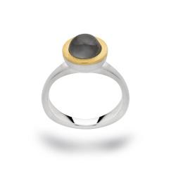 bastian inverun bicolor Ring 12626 925-Silber mit grauem...