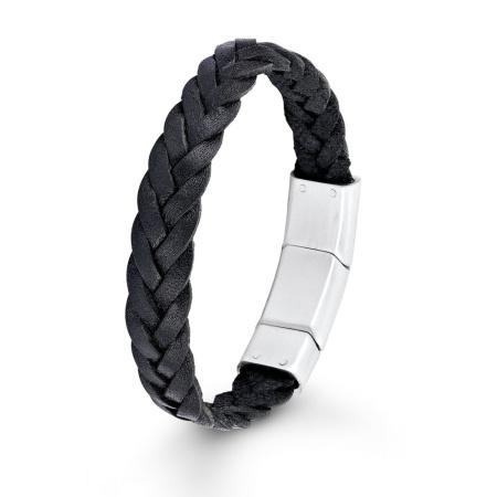 s.Oliver Lederband schwarz gelochten 19,5cm+1,5cm