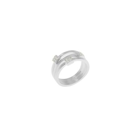Tezer Silber Ring mit Zirkonias - Weite 57