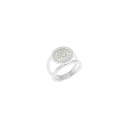 Tezer Ring Silber mit Zirkonia - Ringgröße 56