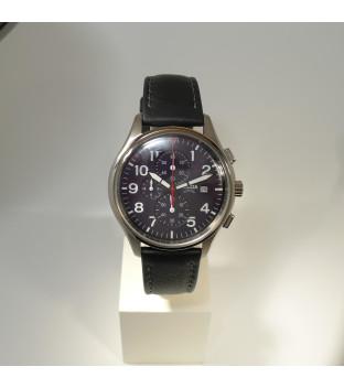 Boccia Titanium Herrenuhr Chronograph mit schwarzem...