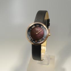 Boccia Damenuhr rosé plattiert nur 28 mm - Lederband und Saphirglas 3266-03