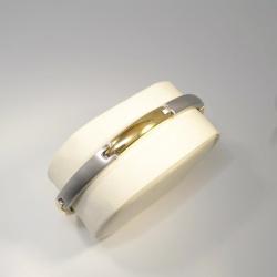 Boccia bicolor Armband gerade Titan teil-goldplattiert 20...
