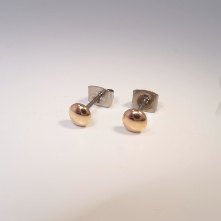 Boccia Ohrstecker Titan roségold-plattiert 05013-03
