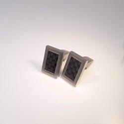 Boccia Manschettenknöpfe Titan Carbon 0603-03