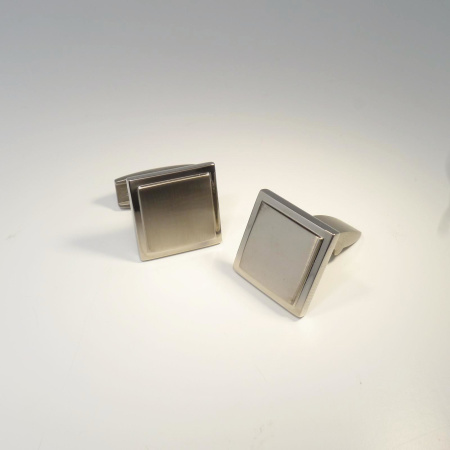 Boccia Manschettenknöpfe Quadrat 0602-01 Titan