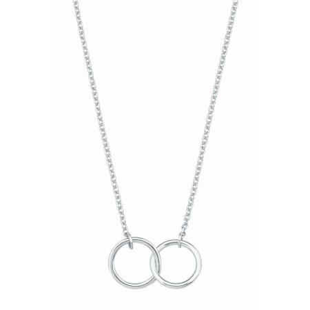 s.Oliver Collier mit Doppelringen 2017139 in Silber Länge 40 + 5 cm