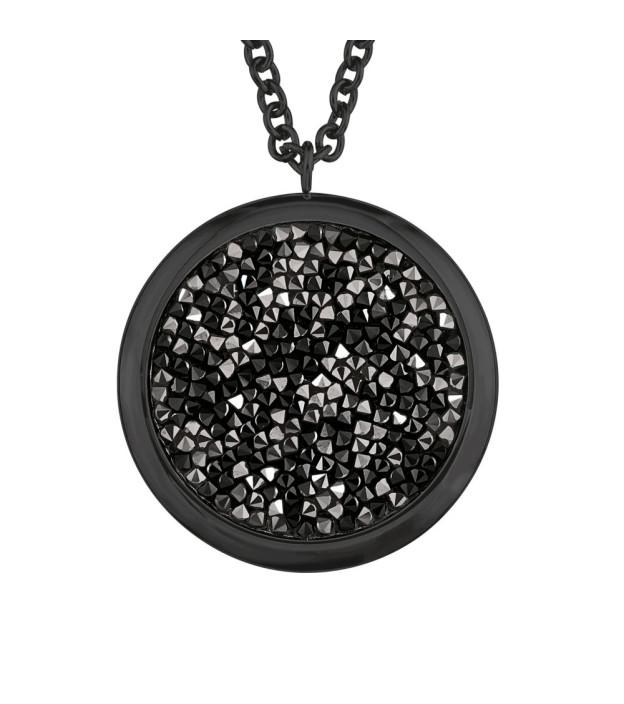 s.Oliver Collier 2018582 Edelstahl schwarz beschichtet mit Swarovski Kristallen