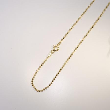 Kugelkette 925 Silber vergoldet 1,5 mm 38 cm