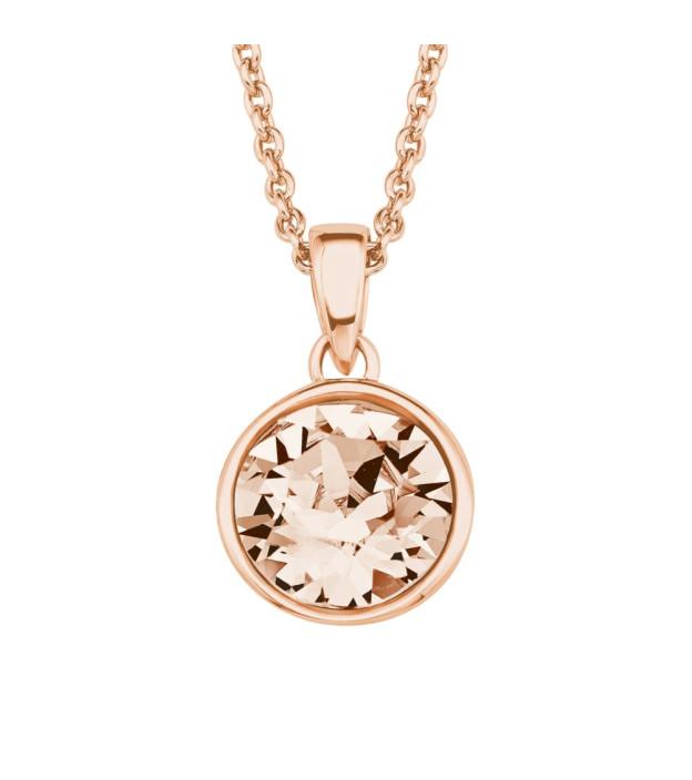 s.Oliver Collier 2018682 Silber rosévergoldet Swarovski Kristall Länge 42 + 3 cm