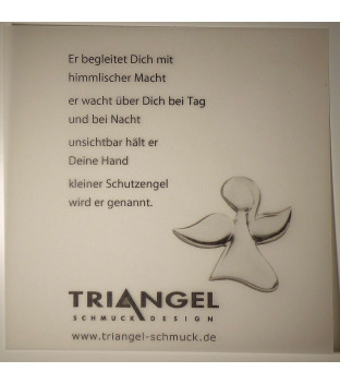 Schutzengel Anhänger Engelchen 20 mm Silber 925 mit großer Öse für Edelsteinketten
