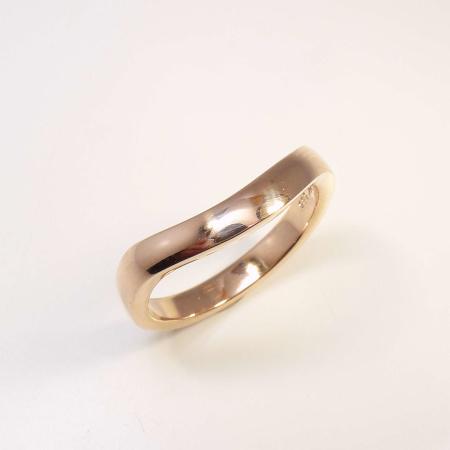 Kombinationsring Multiple Form-C Gold - Rotgold - Weißgold / matt - poliert