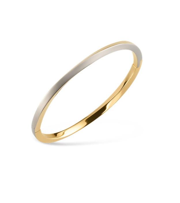 Boccia bicolor Armreif 03011-02 aus Titan teil-goldplattiert