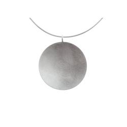 Tezer Anhänger 925-Silber eismatt gewölbt