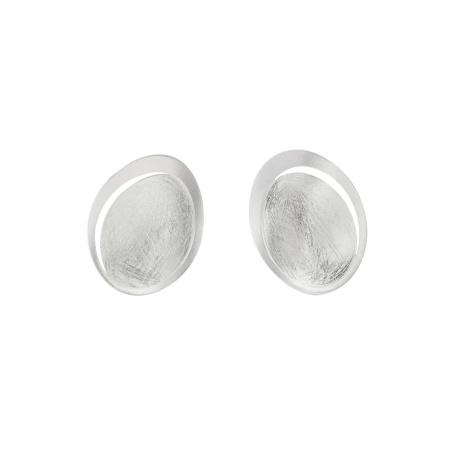 Tezer Clip-Ohrringe eismatt geschwungen