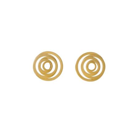 Tezer Ohrstecker Kreisförmig 925-Silber vergoldet