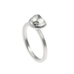 Tezer Ring Silber 925 matt mit Zirkonia Weite 55