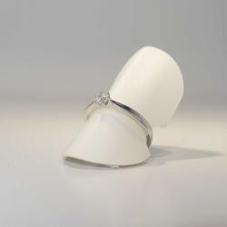 Solitär Ring 585 Weißgold 6 Krappen mit Brillant 0,20ct TW-si Gr. 54