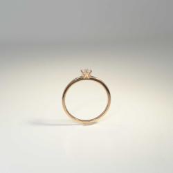 Solitär Ring 585 Rotgold 6 Krappen mit Brillant 0,20ct TW-si Gr. 54