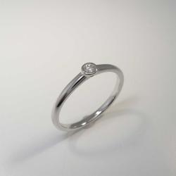 Solitär Ring 585 Weißgold mit Brillant 0,05 ct...